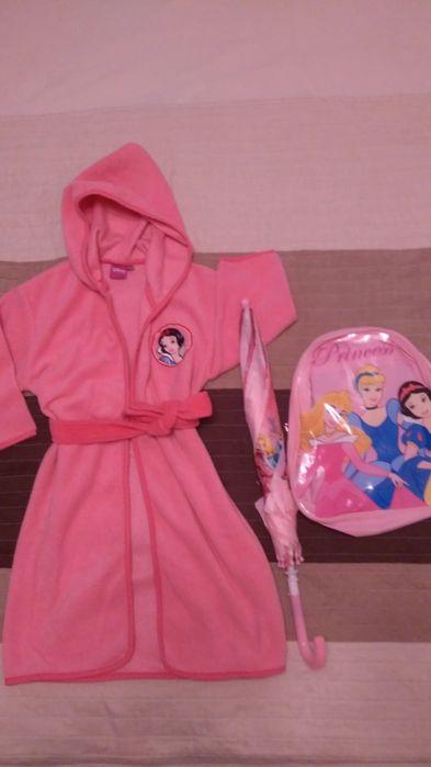 Rucsac gradi + umbrelă + halat fleece 98-104 Princess - NOI