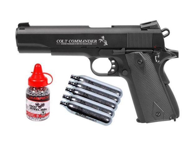 NOU!! Pistol Cu Precizie De Pana La 60m Pe Co2!! ~Airsoft Colt Gaz ARC