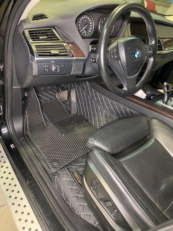 Кожаные 3д-5д коврики в салон автомобиля, полики, автоковрики.