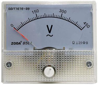 Aparat de masura, voltmetru analogic - 450V, c.a.