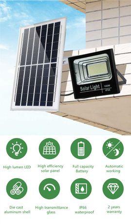 Proiector LED 150W inteligent cu Panou Solar + telecomanda