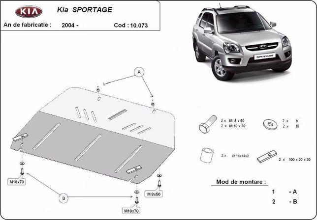Scut metalic pentru motor Kia Sportage 2004-2010 - otel 3mm