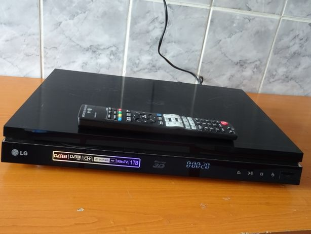 Blu-ray 3d cu hdd recorder LG hr 929 hard disk 1000 gb telecomanda