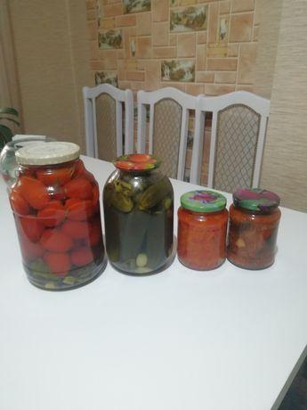 Домашние помидоры,огурцы