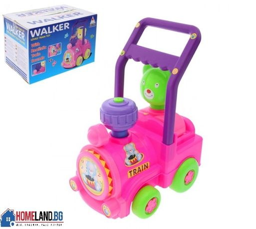 Детска проходилка тип музикална количка - влакче за прохождане