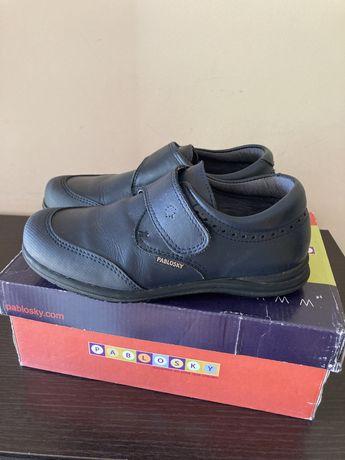 Кожаные Туфли Pablosky ботинки школьные осень.Полуботинки на мальчика