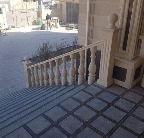 Ступени из Куртинского гранита изготовление и монтаж (лестница)