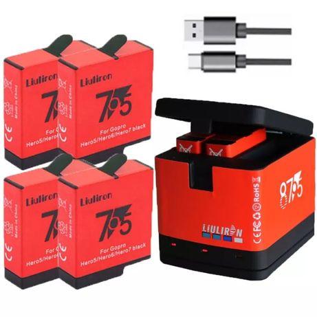 Baterie acumulator // Incarcator Gopro Hero 8 7 6 5 Black // Hero 2018