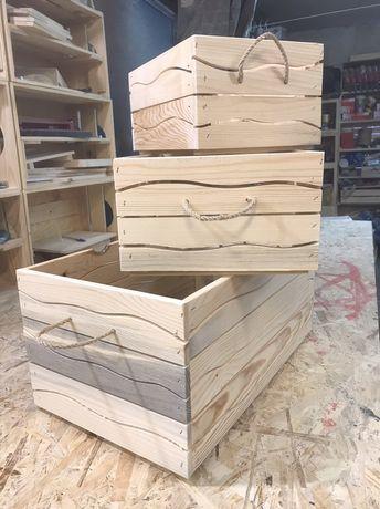Декоративни дървени щайги Серия ривър
