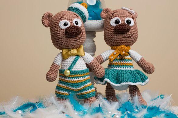 Плетени играчки на една кука Меченца