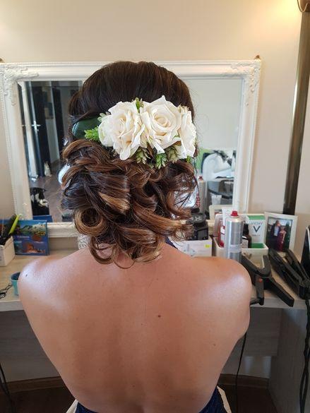 Украшение за коса от копринени цветя