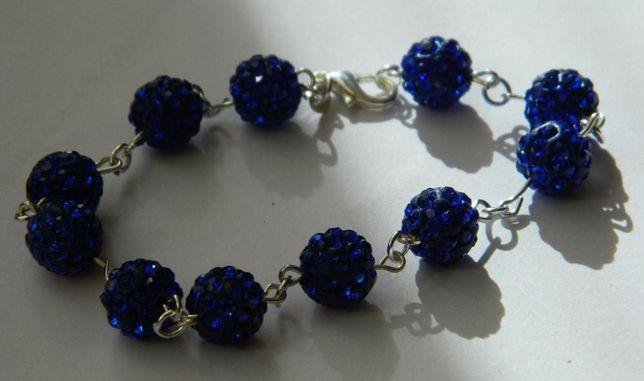 ARG168,bratara argint 925,noua/marcata, cristale swarovsky albastre