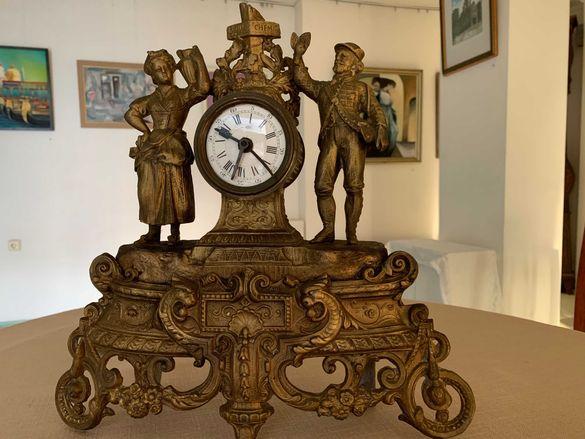 УНИКАЛЕН, Месингов FRANCE 1870 г.супер красив, рядък, каминен часовник