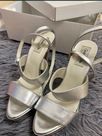 Pantofi Argintii Cristian Albu, Marime 37