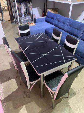 Стол стулья кухонный комплект