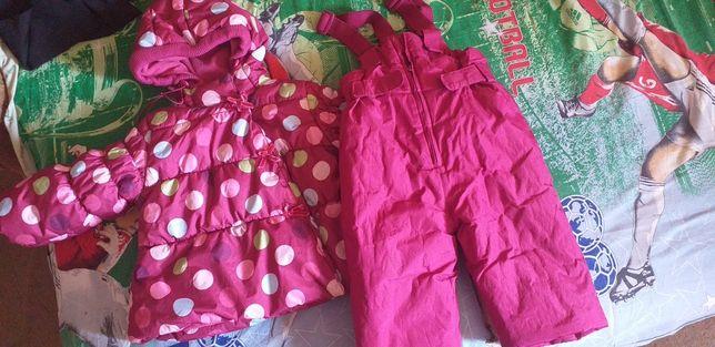 Продам зимний костюм для девочки с 9 мес до 2 лет