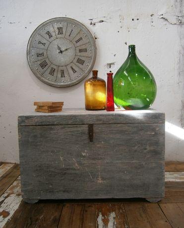 Cufar vechi din lemn masiv reconditionat (Lada zestre/Masuta cafea)
