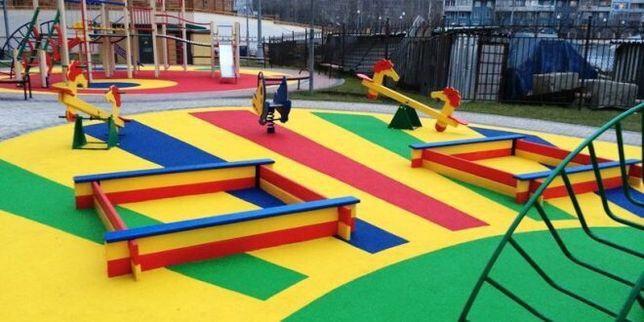 От 4300.Резиновой тартановое покрытие детская и спортивная площадка