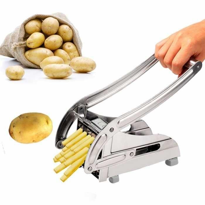 Aparat pentru feliat cartofi cu 2 seturi de cutite din inox