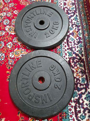Bara fitness cu discuri 40 kg