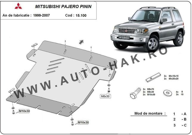 Scut motor metalic Mitsubishi Pajero Pinin 1999-2007