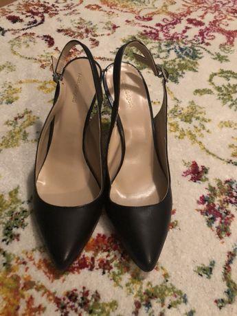 Pantofi piele decupati