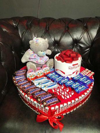Доставка красивых подарочных наборов! Из конфет, цветов и игрушек!