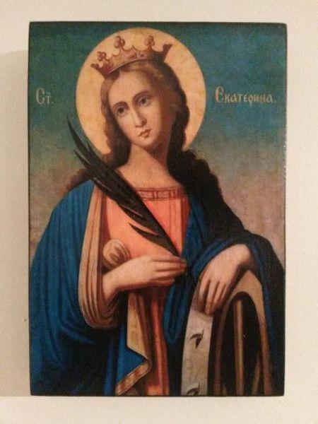 Икона на Света Екатерина icona Sveta Ekaterina гр. Пловдив - image 1