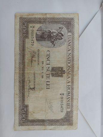 Bancnota 500 lei - 1940