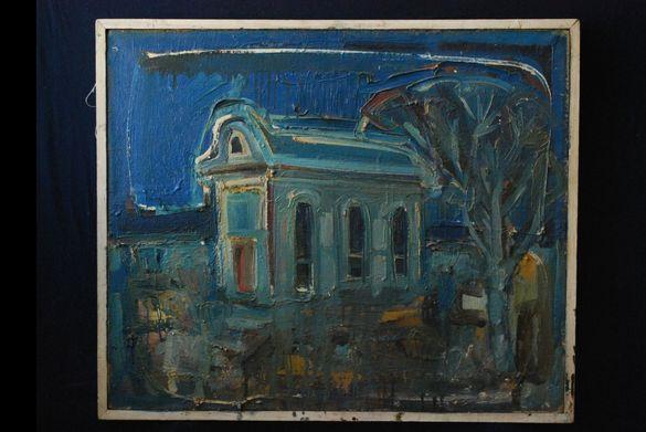 """Картина, """"Спомен от Созопол"""", Б. Чапърова, 1980-те год"""