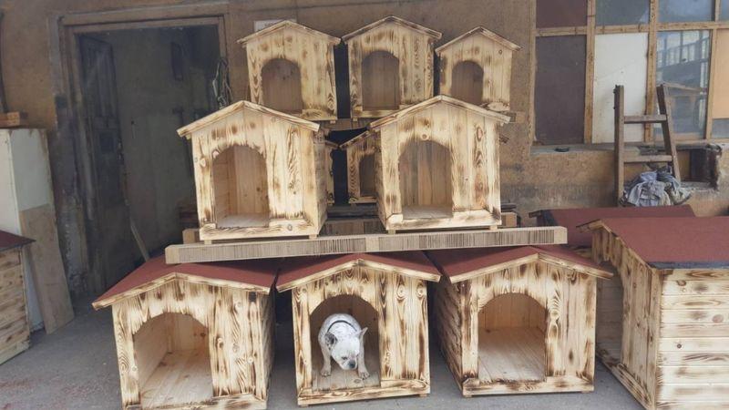 Кучешки къщички , къща за куче, колибки , къщи за кучета, колиби гр. Пазарджик - image 1