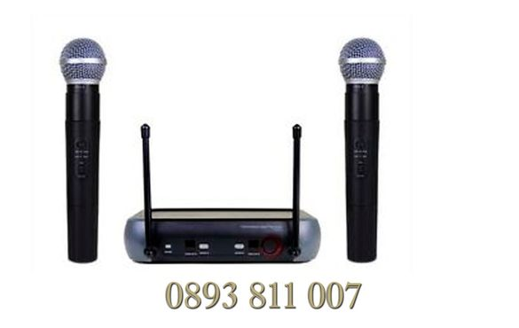 100 метра обхват 2 броя Професионални Безжични Микрофони -wireless + м