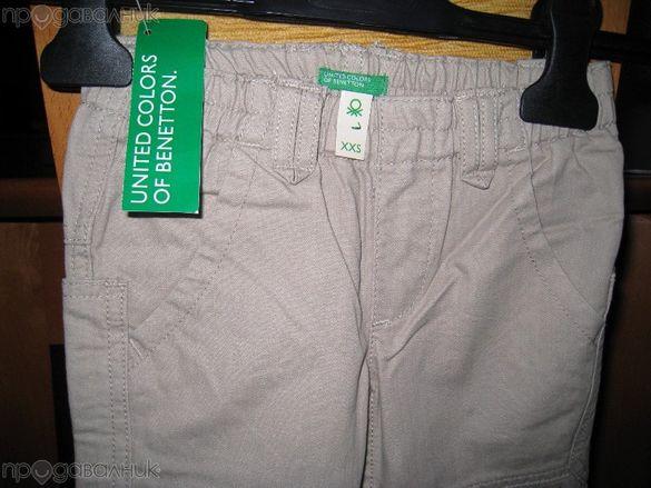 3-4г Бежов панталон дънки Бенетон нов