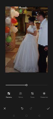 продам свадебное платье счастливое, одевалось раз!!