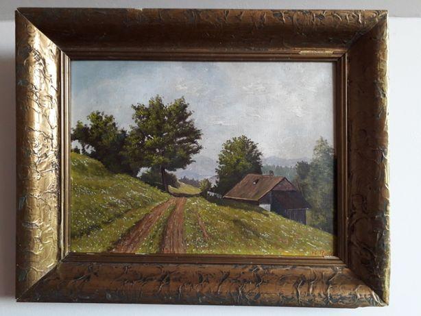 Tablou - Peisaj pictat în ulei, semnat M. Ricter