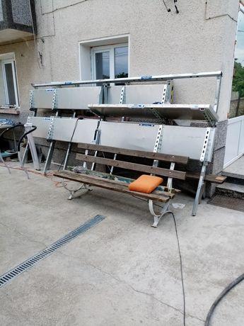 Згаваеми Аломиниеви равтове  600лв 4.60 и 3.60 метра дължина две стойк