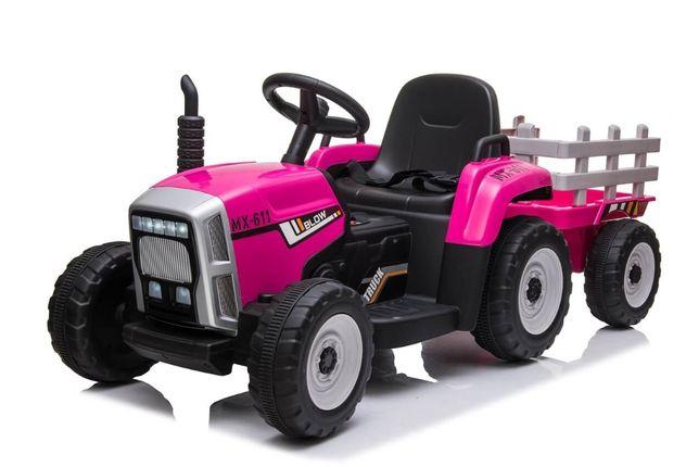 Tractor electric cu remorca pentru copii BLOW TRUCK (MX-611) Roz