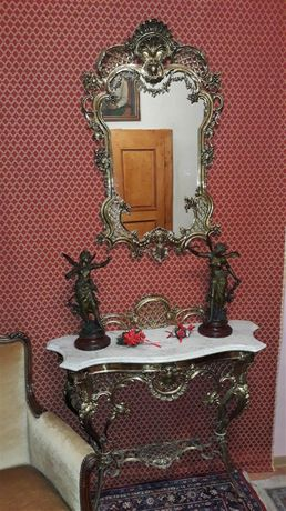 Consola bronz Doree cu oglinda