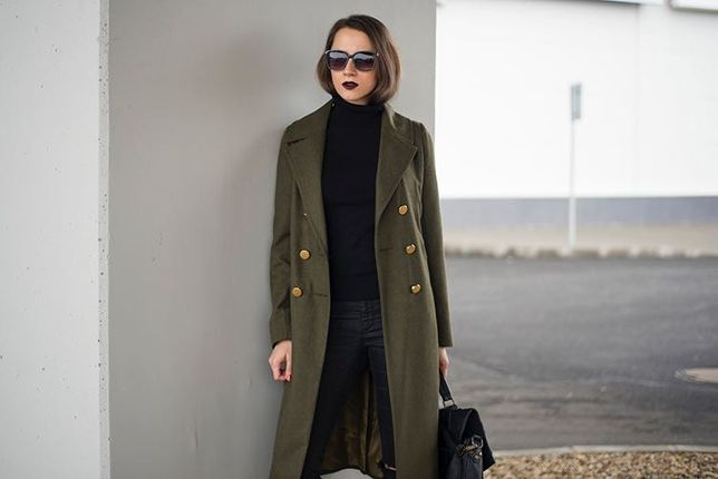 Palton subtire de toamna XS/S 30% lana