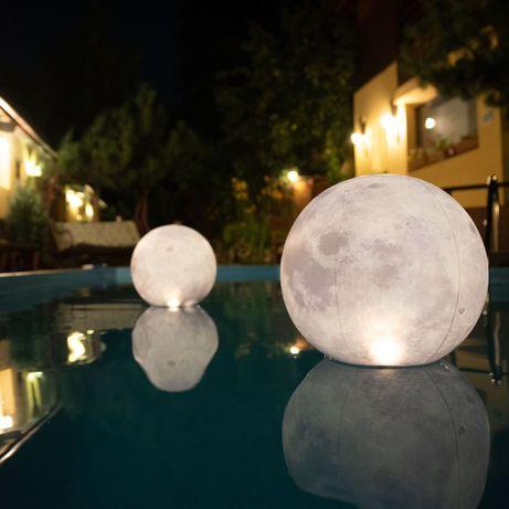 Decor piscina - Minge gonflabila luminoasa solara Luna - Set 2 buc
