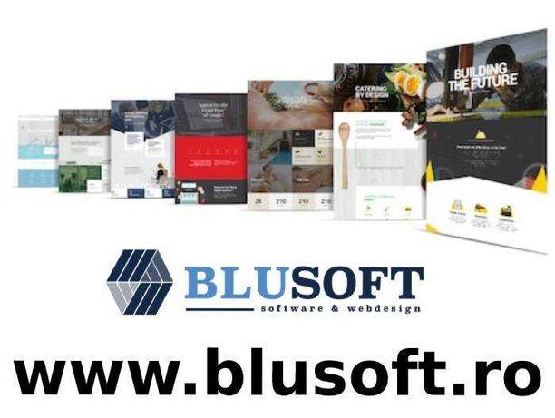 Creare site de prezentare BluSoft, Design Responsive, Logo, Hosting