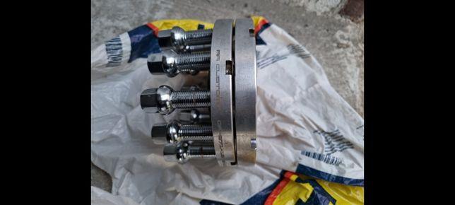 Distanțiere 15 mm  5x112+10 prezoane~VW, Skoda, Audi, Seat