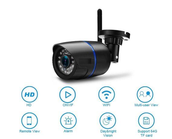 WiFi FHD охранителна камера 1080P, 2mpx, нощно виждане, звук, слот СД