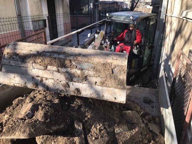 Inchiriere miniexcavator, sapaturi, fose, fundații ,excavator Bobcat