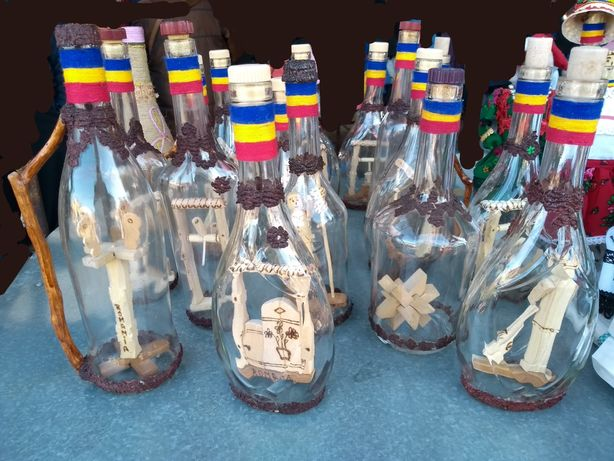 Sticle artizanale cu lemn sculptat interior Personalizate cu dedicație