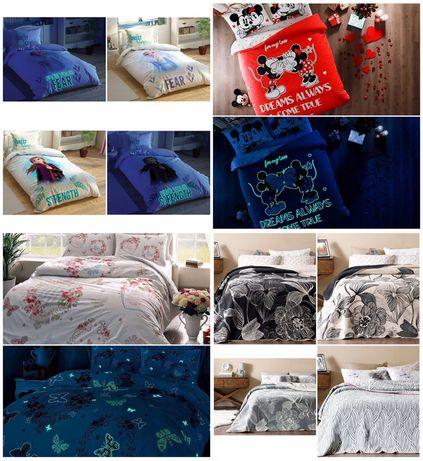 Детски и двойни светещи спалени комплект Тач и памучни одеалала