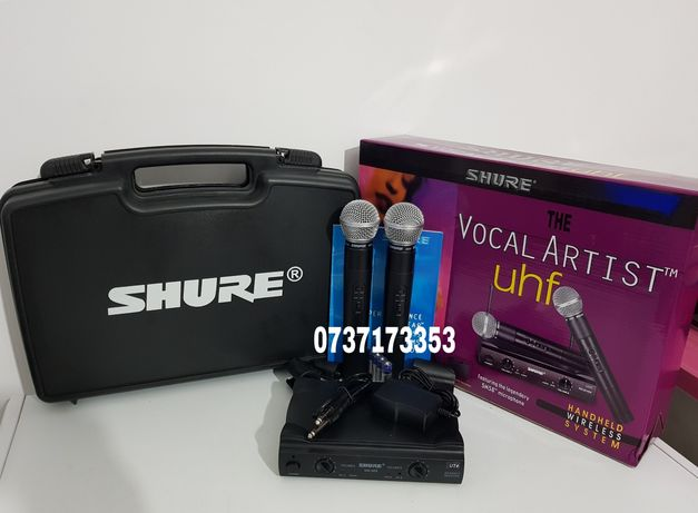 Set 2 microfoane wireless profesionale Shure SM58,valiza inclusa