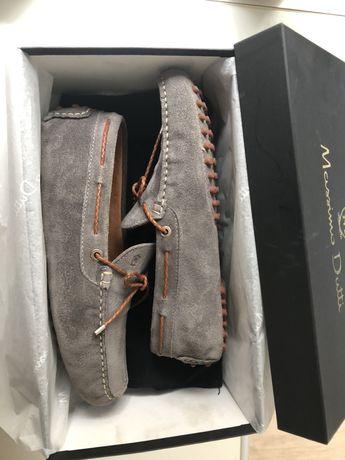 Massimo dutti, Pantofi mocasini din piele intoarsa