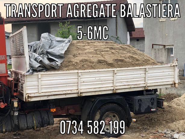 Transport 5-6mc Moloz Pamant Nisip Pietris Balast