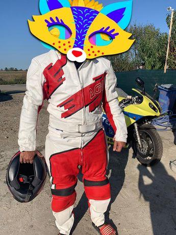 Costum piele moto sport italian profi combinezon geacă pantalon